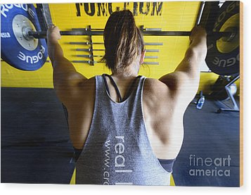 Crossfit 3 Wood Print by Bob Christopher