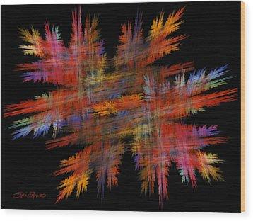 Crosshatch Wood Print by Sylvia Thornton