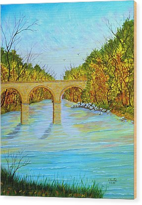 Crossing Over Wood Print by David Bentley