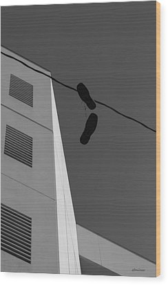Wood Print featuring the photograph Crossing The Line - Urban Life by Steven Milner