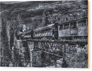 Crossing The Tressel Wood Print