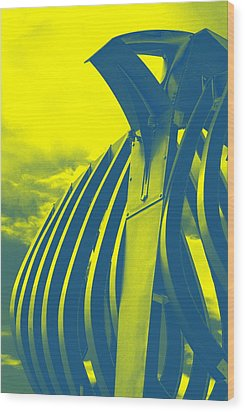 Crossiron Mills - 1 Wood Print by Jhoy E Meade