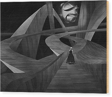 Crossroad Wood Print by Jack Zulli
