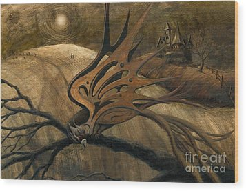 Crossroads Wood Print by Denise M Cassano