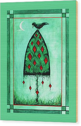 Crow Dreams 2 Wood Print by Terry Webb Harshman