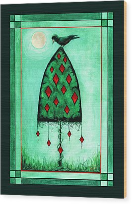 Crow Dreams Wood Print by Terry Webb Harshman