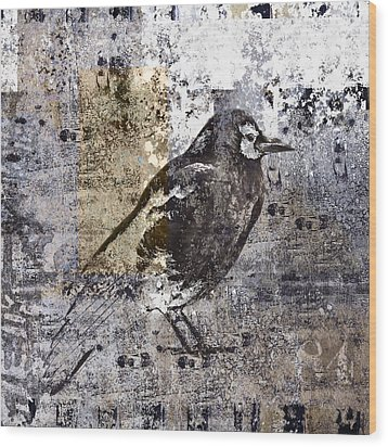 Crow Number 84 Wood Print