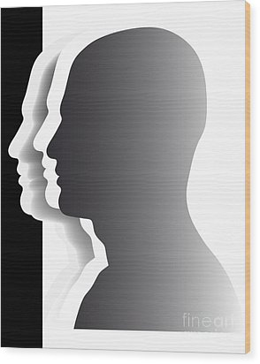 Crowd - Heads - Teamwork Wood Print by Michal Boubin