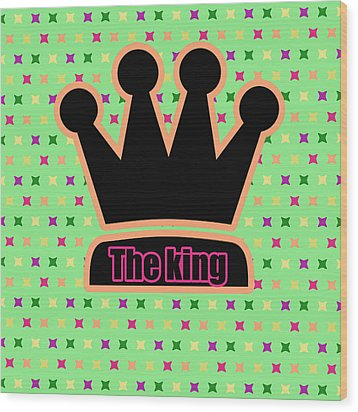 Crown In Pop Art Wood Print by Tommytechno Sweden