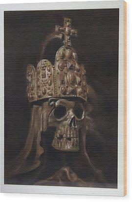 Crowned Death Wood Print by Paez  Antonio