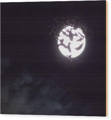 Crowning The Exulted Moon Wood Print