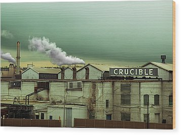 Crucible Wood Print by Steven Michael