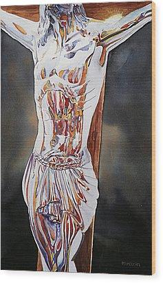 Crucifijo En Plata Wood Print by Patrick DuMouchel