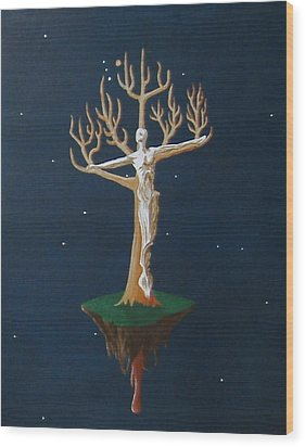 Crucifix 2 Wood Print by Steve  Hester