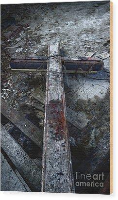Crucifixion Wood Print by Margie Hurwich