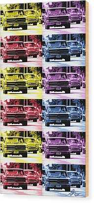 Cruise Pop 4 Wood Print by Gordon Dean II