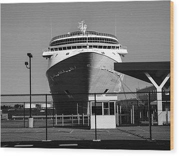 Cruise Ship Still Life Wood Print by Bob Orsillo