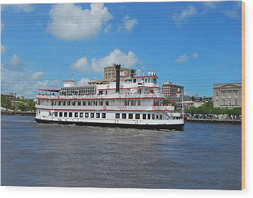 Wood Print featuring the photograph Steamboat  by Bob Sample