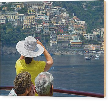Cruising The Amalfi Coast Wood Print