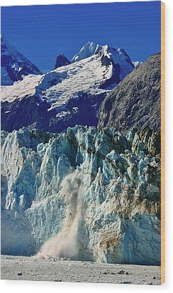 Wood Print featuring the photograph Crumbling Glacier by Henry Kowalski