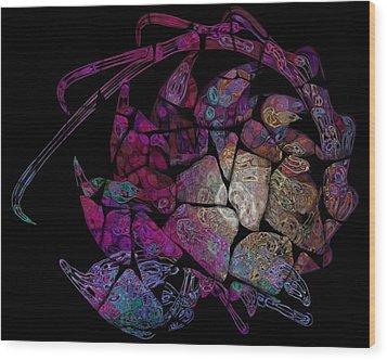 Crustacean Wood Print by Amanda Moore