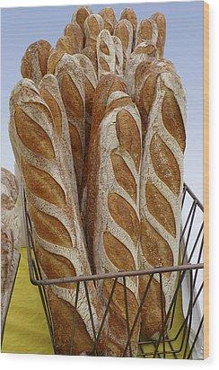 Crusty Bread Wood Print