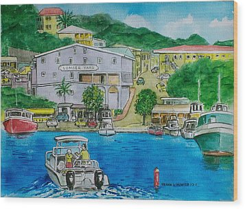 Cruz Bay St. Johns Virgin Islands Wood Print