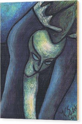 Crying Woman Wood Print by Kamil Swiatek