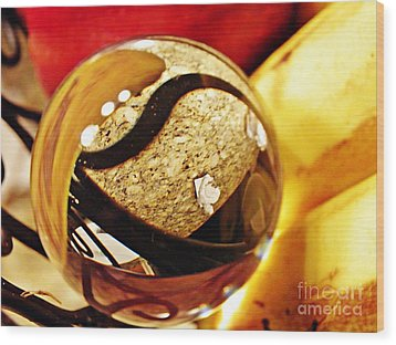 Crystal Ball Project 113 Wood Print by Sarah Loft