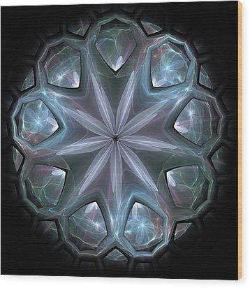Wood Print featuring the digital art Crystal Ball by Svetlana Nikolova