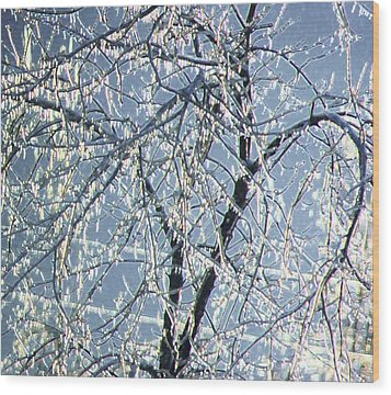 Crystal Beads Wood Print by Kathleen Struckle