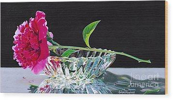 Crystal Beauty Wood Print by Arlene Steinberg