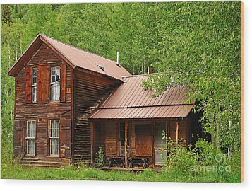 Crystal Cabin Wood Print