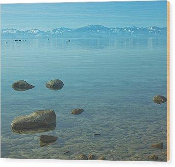 Crystal Clear Lake Tahoe Wood Print by Kim Hojnacki