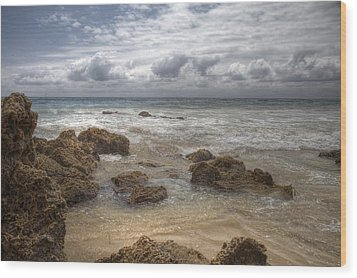 Wood Print featuring the digital art Crystal Cove Beach by Sharon Beth