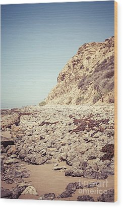 Crystal Cove State Park Cliff Picture Wood Print by Paul Velgos