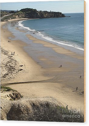 Crystal Cove View - 03 Wood Print by Gregory Dyer