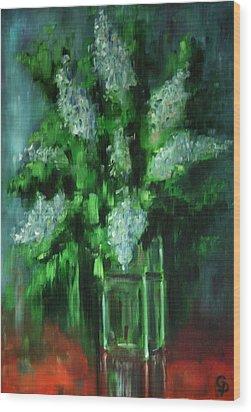 Crystal Flowers Wood Print by George Dadiani