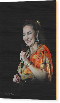 Crystal Gayle Wood Print by Kenny Francis