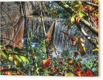Crystal Lake Falls Wood Print