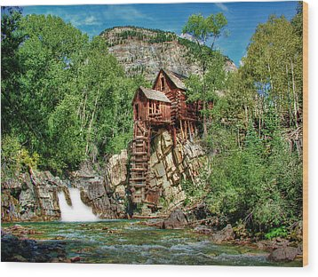Crystal Mill Crystal Colorado Wood Print by Ken Smith