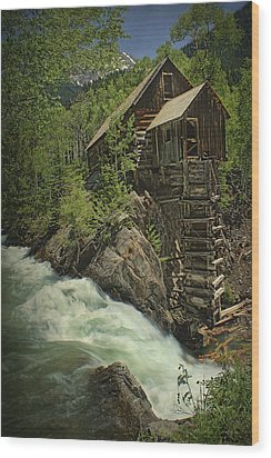 Wood Print featuring the photograph Crystal Mill by Priscilla Burgers