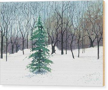 Crystal Morning Wood Print by Barbara Jewell
