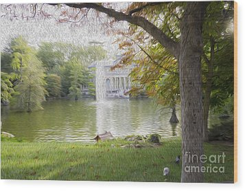 Crystal Palace In Retire's Park Oleo Wood Print