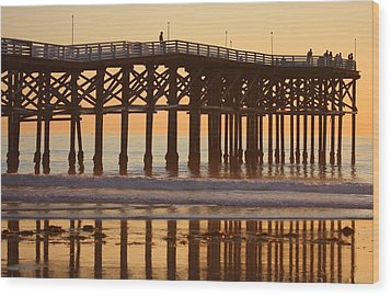 Crystal Pier Wood Print by Nathan Rupert
