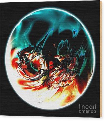 Crystal Planet Wood Print by Bernard MICHEL