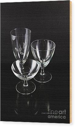 Crystal Reflection Wood Print