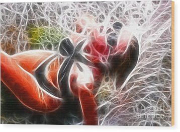 Crystal Sling 2 Fractal Wood Print by Gary Gingrich Galleries