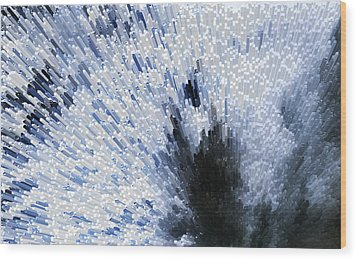 Crystal Star - Black And White Abstract Art By Sharon Cummings Wood Print by Sharon Cummings