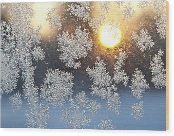 Crystal Sunrise Wood Print